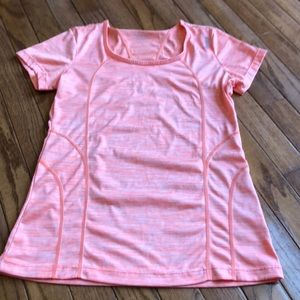 Reebok scoops neck workout top